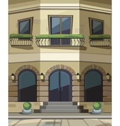 Shop Restaurant Cafe Store Front with Big Windows vector image vector image