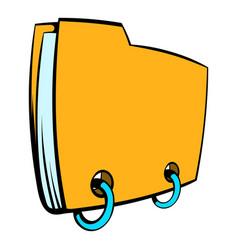 yellow file folder icon cartoon vector image