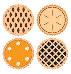 berryfruit and pumpkin pies vector image