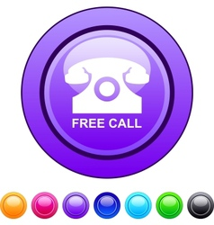 Free call circle button vector image