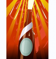 liquor bottle vector image vector image