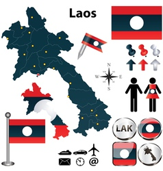 Map of Laos vector image