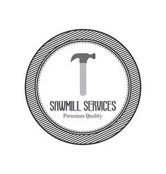 Sawmill label object vector