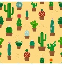 Seamless cactus pattern vector
