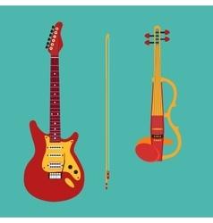 Set of string instruments Electric violin vector image vector image