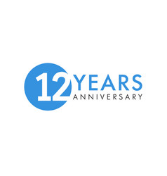 12 years logo vector image