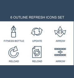 6 refresh icons vector