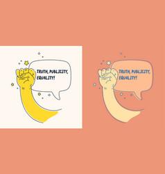 A concept with cartoon style speech vector