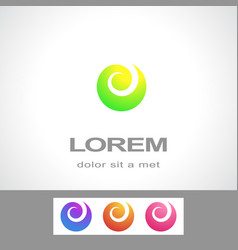 abstract logo design template fashion spa vector image