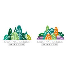 abstract logo original set corporate identity vector image