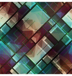 Abstract matrix pattern on geometric background vector
