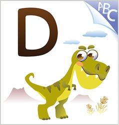 Animal alphabet for kids d for dinosaur vector