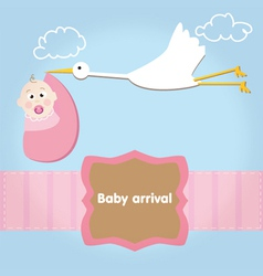 baby girl arrival album vector image