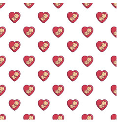 baby love pattern seamless vector image