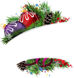 Balls christmas composition vector