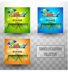 beautiful summer template background collections vector image