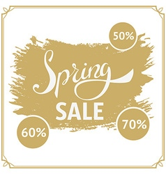 Big spring sale 70 off Big sale design template vector image