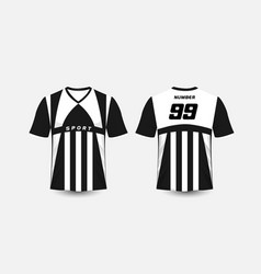 Black and white stripe pattern sport football vector
