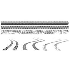 black car tire tracks rubber wheel print vector image