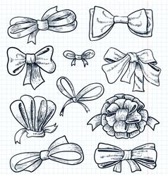 bows set vector image