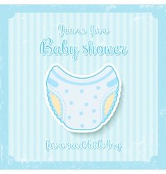 Boy baby shower vector