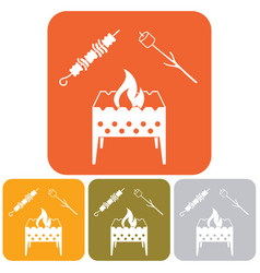 brazier zephyr and kebab icon vector image