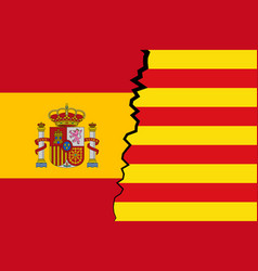 catalonia vs spain - independence vector image