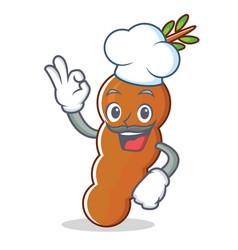 Chef tamarind character cartoon style vector