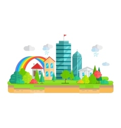City Landscape in Flat vector image