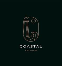 coastal logo design vector image