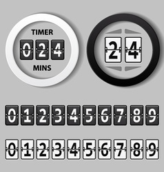 Countdown round mechanical timer vector