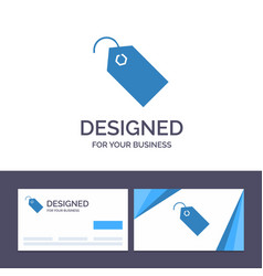 creative business card and logo template price vector image