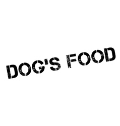 Dog Food rubber stamp vector