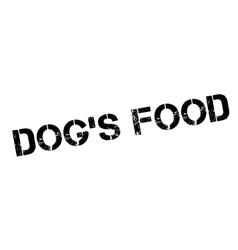Dog food rubber stamp vector