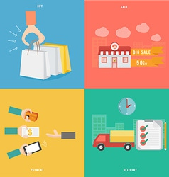 Element of buy sale payment and delivery concept vector image