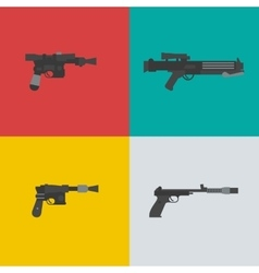 Fantastic weapons vector