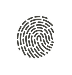 finger print icon line hand id symbol vector image