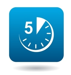 Five minutes icon flat style vector image
