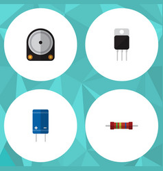 Flat icon electronics set of resistance vector