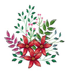 Floral decoration vintage style vector