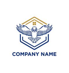 Flying eagle emblem eagle icon eagle design vector