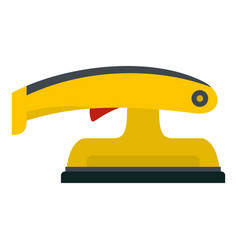 Fret saw icon isolated vector