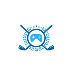 game golf logo icon design vector image