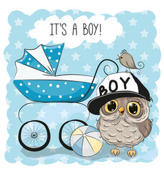 greeting card its a boy vector image