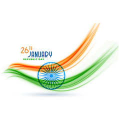 happy indian republic day creative flag design vector image