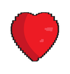 isolated pixelated heart icon vector image
