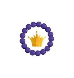 Isolated royal crown inside bracelet design vector