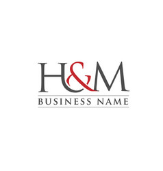 Letter h and m logo vector