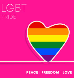 lgbt colorful heart for background flyer poster vector image