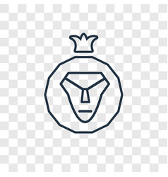 Lion of judah concept linear icon isolated on vector